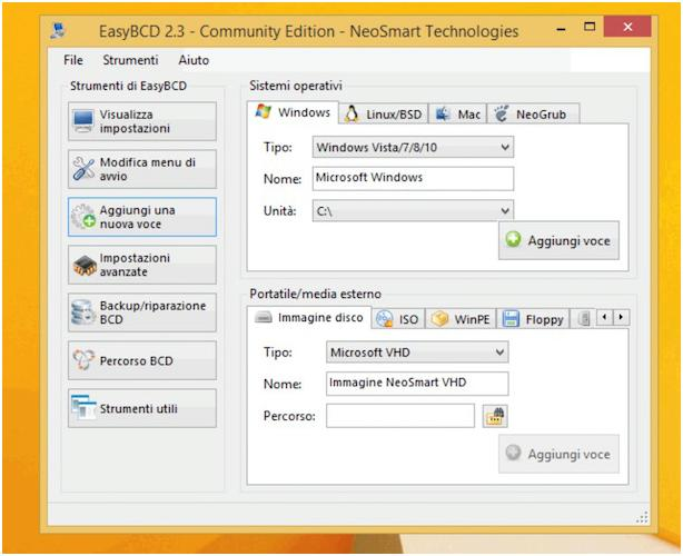 19f3acfd0770de Ad operazione completata, clicca sul pulsante Modificare menu di avvio che  si trova nella barra laterale di sinistra, seleziona il sistema operativo  da ...